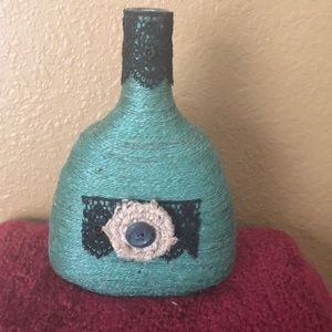 Handmade Jute and Lace bottle